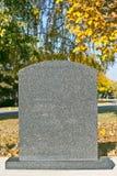 blank gravestone royaltyfri fotografi