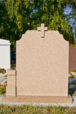 Blank gravestone Royalty Free Stock Image