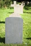 blank gravestone Arkivfoto