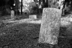 Blank Gravestone in Cemetery Royalty Free Stock Photos