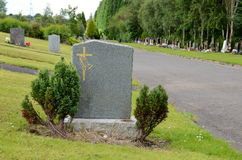 Blank gravestone. A blank gravestone with details removed Royalty Free Stock Photos