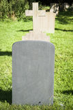 Blank Gravestone Stock Photo