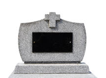 Blank gravestone I ( clipping path ) Royalty Free Stock Photography