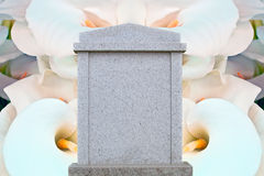 Blank gravestone Royalty Free Stock Photo