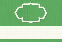 Blank green banner Royalty Free Stock Photography