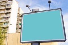 Blank green billboard Stock Photography
