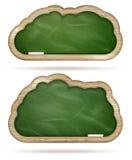 Blank green Blackboard cloud set. EPS 10 Royalty Free Stock Images