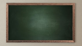 Blank green blackboard. 3D design and rendering for your project Royalty Free Stock Image