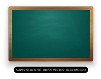 Blank green blackboard on white background Stock Image