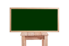 Blank of green board isolated on white Royalty Free Stock Image