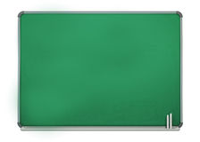 Blank Green Board Isolated on White Background Stock Photos