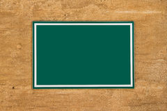Blank Green Board Sign Royalty Free Stock Image