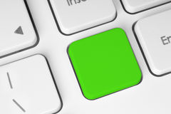 Blank green button on the keyboard Stock Images
