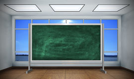Blank green chalk board Stock Photography