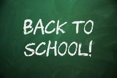 Blank green chalkboard BACK TO SCHOOL Royalty Free Stock Image