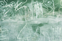 Blank green chalkboard Royalty Free Stock Photography