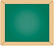 Blank green chalkboard / blackboard with wooden fr Royalty Free Stock Image