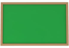 Blank green chalkboard isolated on white Stock Image