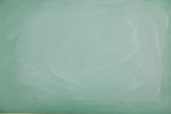 Blank green chalkboard Stock Images