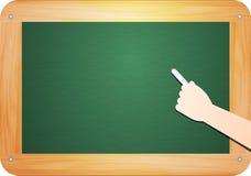 Blank green chalkboard Stock Images