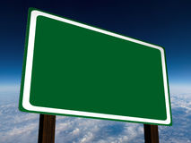 Blank Green Freeyway Road Sign Stock Images