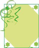Blank in green. Ilustration of texture with flower and ribbon Royalty Free Stock Images