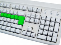 Blank green keyboard Royalty Free Stock Photo