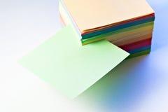 Blank green note Stock Photos