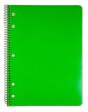 Blank green notebook cover. Royalty Free Stock Photos