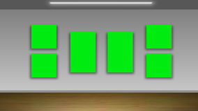 Blank green pictures on wall Stock Image