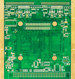 Blank green printed circuit board (PCB) Stock Image