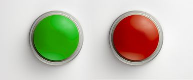 Blank green and red buttons Royalty Free Stock Photo