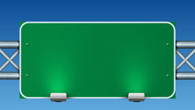 Blank green road sign. Stock Image