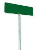 Blank Green Road Sign Isolated, Large White Frame Framed Roadsid Royalty Free Stock Photo