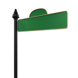 Blank Green Road Sign. On white background. 3D render Royalty Free Stock Photo