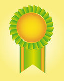 Blank green rosette Royalty Free Stock Images