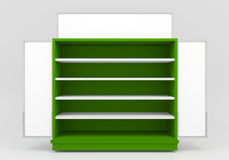 Blank with green Shelves Stock Photography