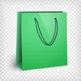 Blank green shopping bag mockup Royalty Free Stock Photography