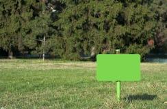 Blank green sign Stock Photos