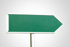 Blank Green Sign with Right Direction Royalty Free Stock Photos