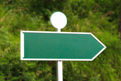 Blank Green Sign with Right Direction Royalty Free Stock Image