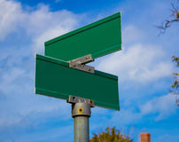 Blank green signs Stock Photo