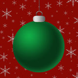 Blank Green Silver Ornament Royalty Free Stock Images