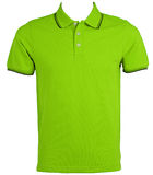 Blank of Green T-Shirts Front with Clipping Path. Royalty Free Stock Images