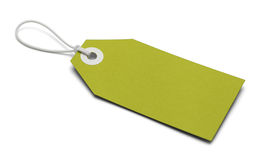 Blank Green Tag Stock Photography