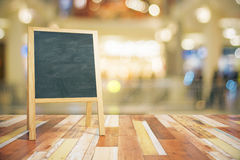Blank green wooden blackboard for restaurant menu Royalty Free Stock Photography