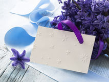 Blank greeting card. In the beautiful floral arrangement Royalty Free Stock Image