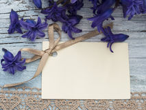 Blank greeting card. In the beautiful floral arrangement Royalty Free Stock Photo