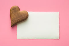 Blank greeting card and hearts. Royalty Free Stock Photo