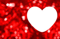 Blank of greeting card with red bokeh background Royalty Free Stock Photo